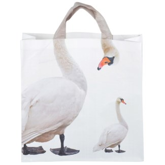 Shopping bag swan - 15.75x5.75x20.25 inches
