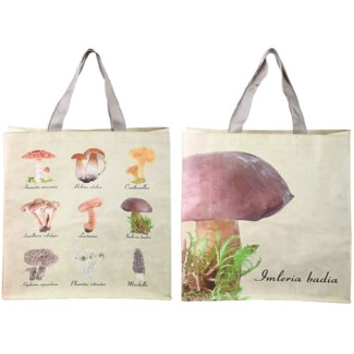 Shopping bag collectibles mushrooms, PP Woven fabric, polyester - 15.55x5.71x40