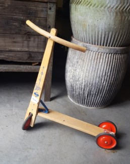 Antique Dutch Childrens Scooter, From Holland 1880