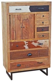 Wooden Multidrawer Chest, 31.5x16.5x54 inches