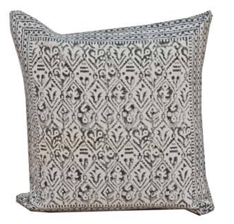 Sheena Diamond Pattern Cushion, Grey & White 19x19