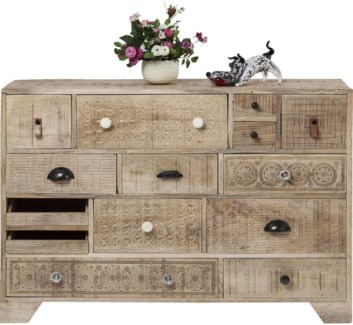 Chantilly Sideboard Carved Mangowood 44.9x13.8x31.5