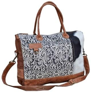 Lindsay Cow Hide Messenger Bag 17x4x13