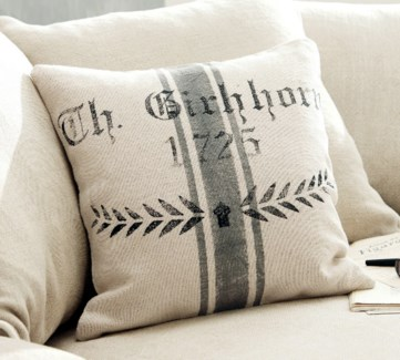 Cushion Grey Stripe 15.50x15.50