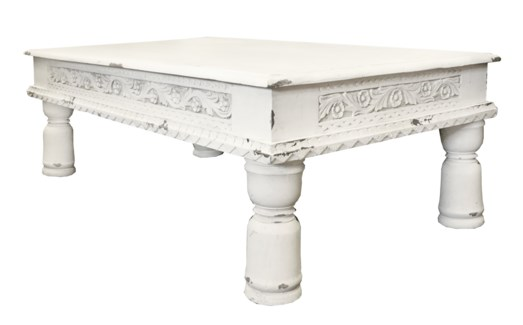 White Wooden Coffee Table 45.3x27.6x16.1inch. 30% off regular price of $370.00
