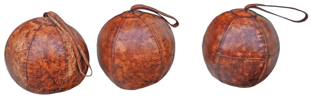 Leather Ball Door Stopper, 8x8x8 inches