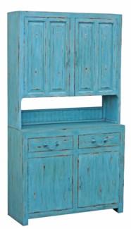 Kitchen Cabinet, Blue, 43x16x79 inches