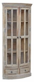 Corner Cupboard, Cream, 31x24x71 inches