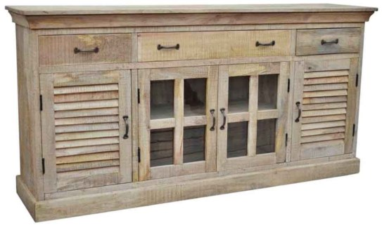 Mango Wood Sideboard 4Doors 4 Drawers 70.9x17.7x35.4inch. On sale 30% off original price $845.00