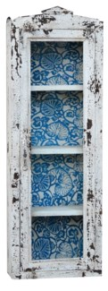 Wall Rack, Dist. Blu/Wht, 12x5x35 inches