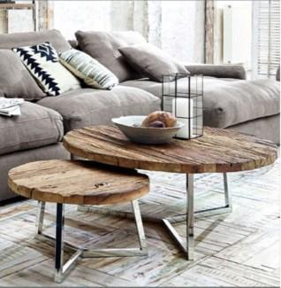 Hilda Nesting Coffee Table, set/2  Small 23.5x.23.5x34  , Large 39.3x39.3x17.7