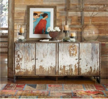 Karl Hutch/Sideboard, Distressed 70.8x15x33.5 inches