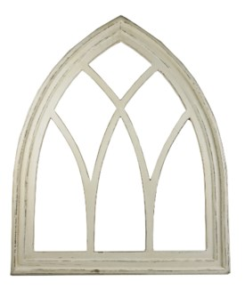Gothic Frame Without Mirror, White Wash. Wood, 66,0x4,8x80