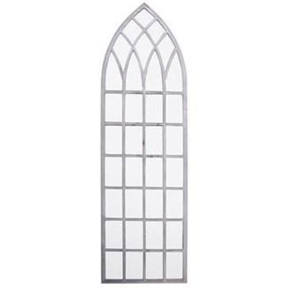 Church window mirror 140cm. Metal,glass. 40,5x2,6x140,0cm. oq/2,mc/1 Pg.59