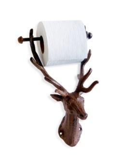 Reindeer Toilet Roll Holder, antique rust finish 6.1x5.8x12inch