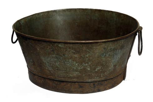 Vintage metal basin Approx. 23.3x18.1x12.2inch On sale 25% off original price of $69.00