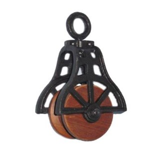 Pulley P S Black 3.7x2.4x6.5inch