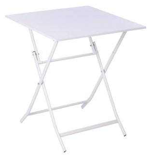 Foldable Bistro Metal Table White 23.6x23.6inch. CK9212240 ON SALE 50 PERCENT OFF