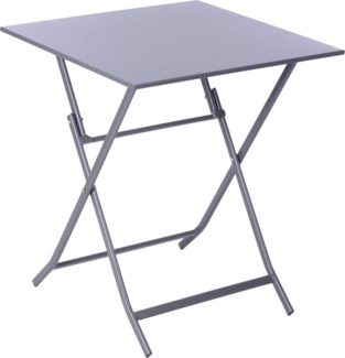 Foldable Bistro Metal Table Grey 23.6x23.6inch.CK9212250 ON SALE 50 PERCENT OFF