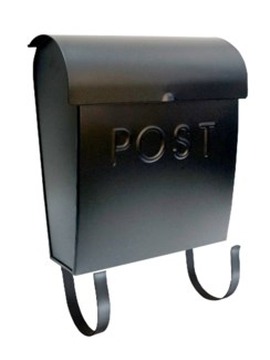 black Euro mailbox POST. Brackets Incl. 11x4x13inch