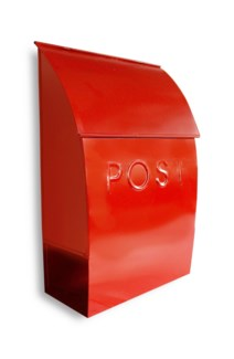 Milano pointed mailbox, red  15.2 X 9.6 X 4