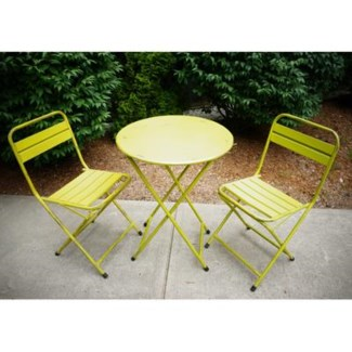 green folding table, round 23.6Dx29.5inch. 50percent off original price $86