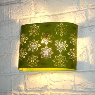Perforated wall lamp; oval  (8  x 11.2  x 5 ), 40 percent off original price $29