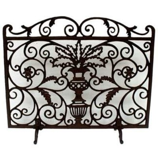 fireplace screen with legs 29.7x28x 7.7inch
