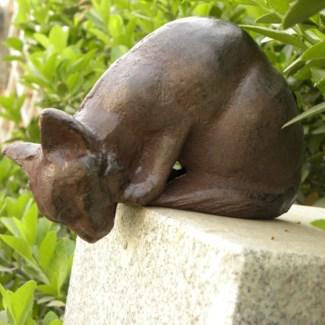 Cat Decoration, Antique Rust 5.12x3.5x4inch