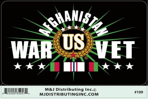 US War Vet Afghanistan Sticker