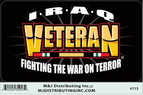 Veteran Iraq Sticker
