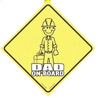 Dad on Board Window Clings