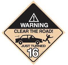 Warning clear the Road Window Cling