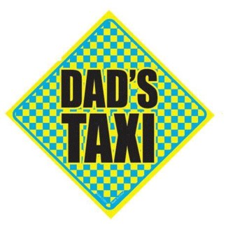 Dads Taxi Window Cling
