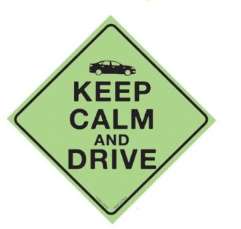 Keep Calm and Drive Window Cling
