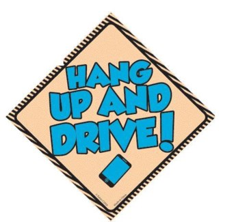Hang Up and Drive Window Cling