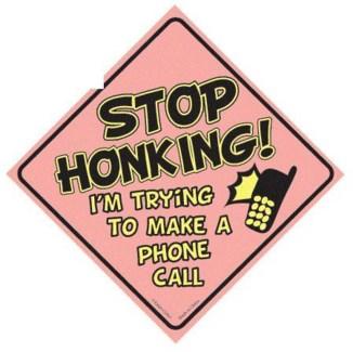 Stop Honking...Window Cling