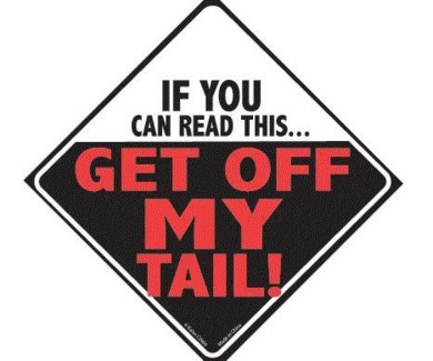 If You Can read this get off my tail Window Cling