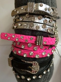 Neon Diamond Belts Asst
