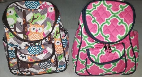 Asst. Fabric Back Pack Purse