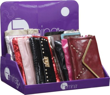 Fashion Clutch Purses (24 per Disp)