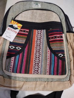 Asst Hemp Backpack