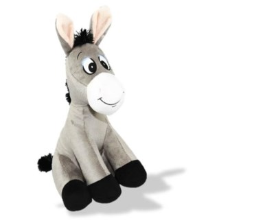 "12"" Sitting Grey Donkey"