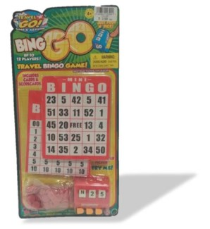 Bingo Travel Game