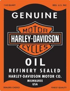 HD Oil Can Rectangle Embossed sign