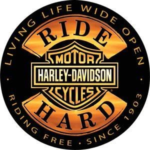 HD Ride Hard Embossed Sign