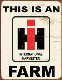 I H Farm Metal Sign