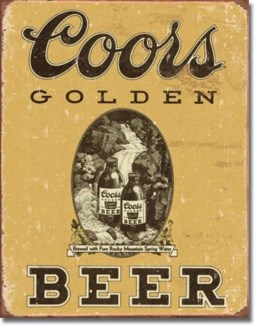 COORS Golden Vintage Tin Sign