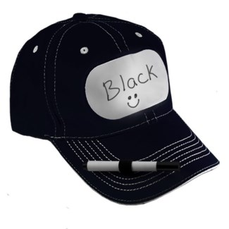 Dry Erase Billboard Cap Black