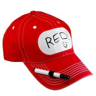 Dry Erase Billboard Cap-Red